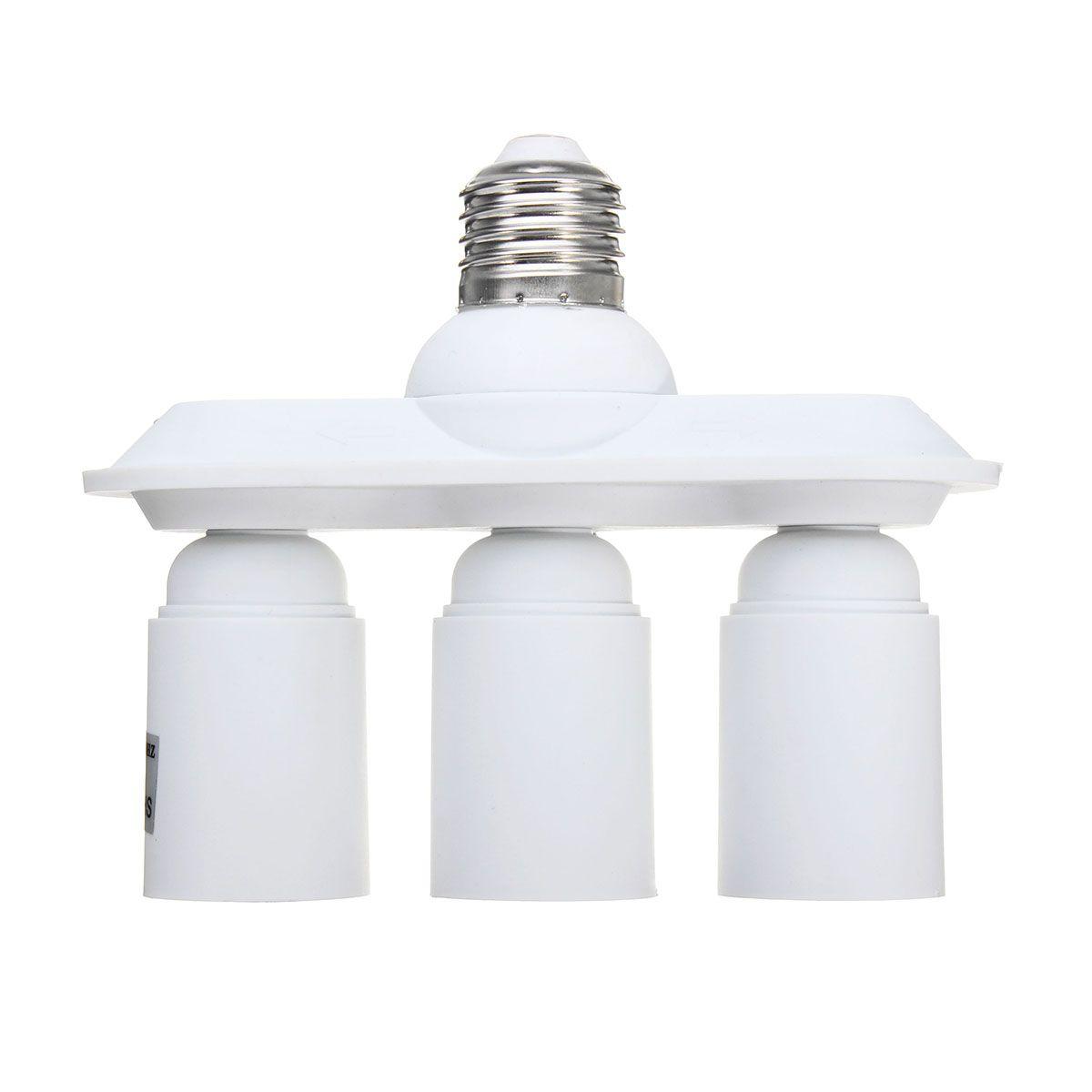 3 In 1 E27 E26 To E27 Led Light Bulb Socket Splitter Adapter Lamp Holder With Images Lamp Holder Led Light Bulb E27 Led