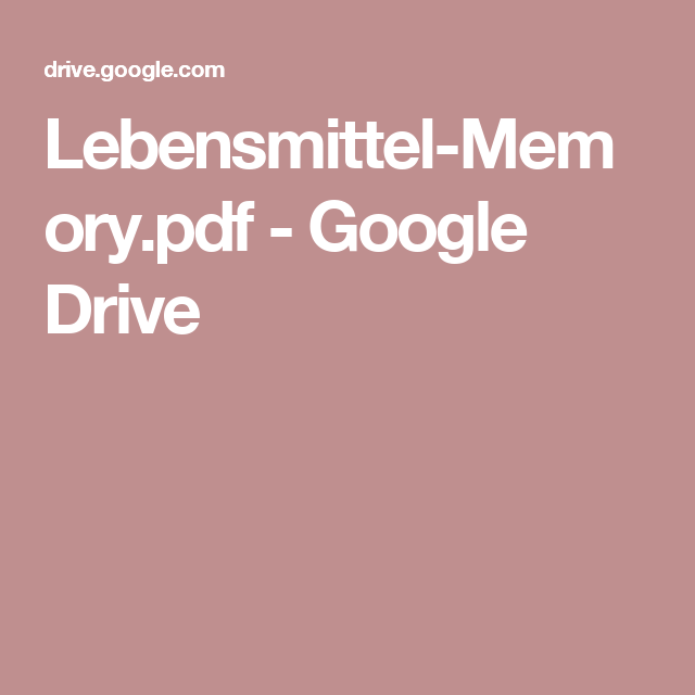 Lebensmittel-Memory.pdf - Google Drive   Bildung   Pinterest ...
