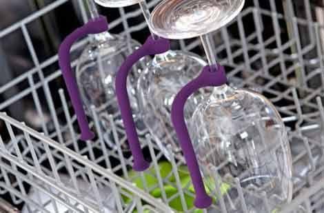 Smart stemware holder saves the expensive wine glasses