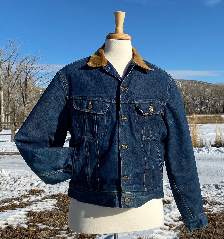Lee Storm Rider Jean Jacket Large Vintage 1980s Denim Etsy Denim Jacket Jackets Rider Jeans [ 3000 x 2799 Pixel ]