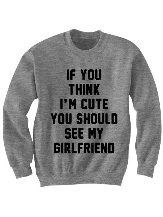 Boyfriend Girlfriend Shirt Sweatshirt Sweater Oversize Gifts Cute Birthday Funny Couples Shirts Matching
