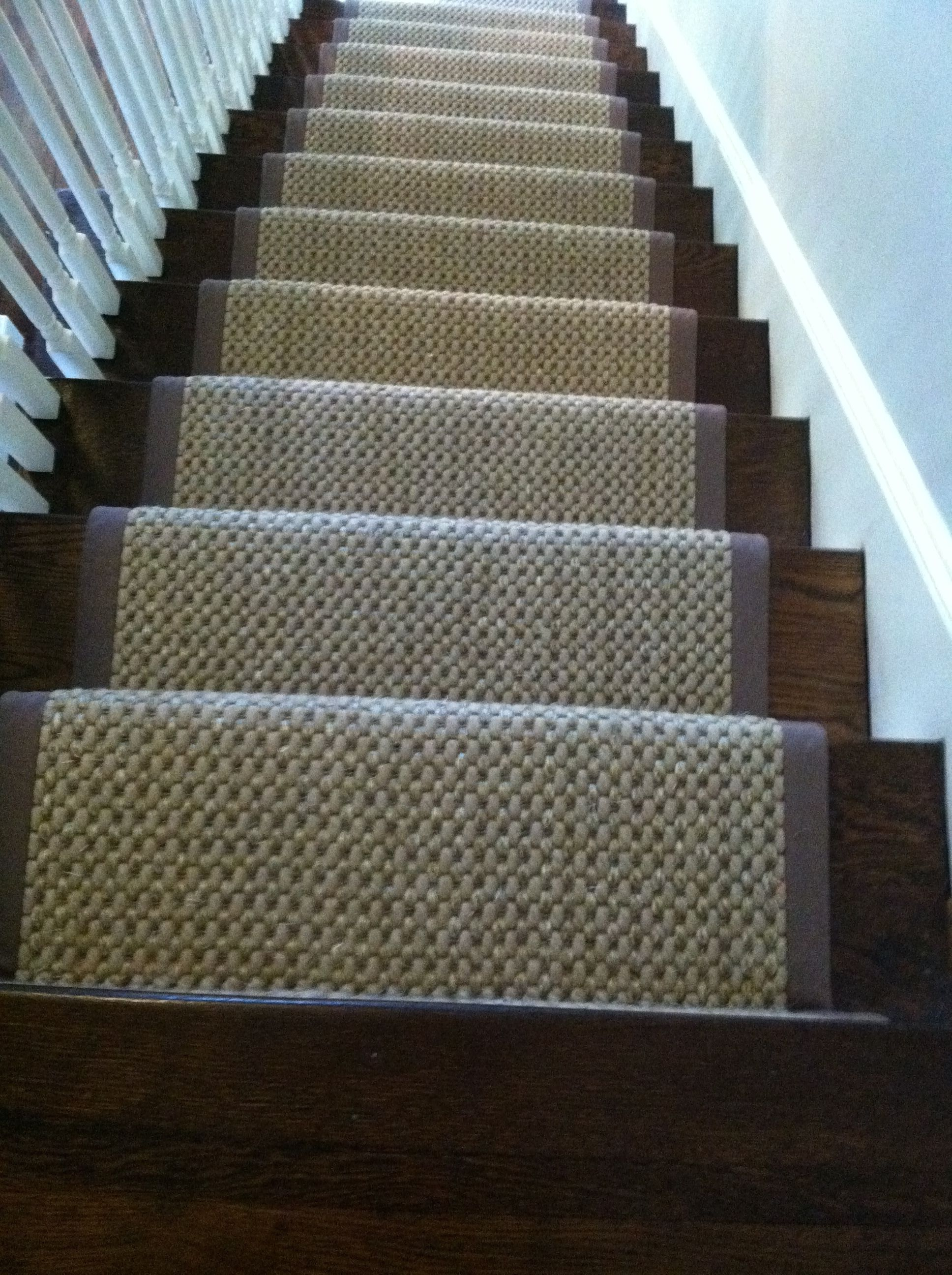 This #sisal Carpet Remnant Was Fabricated And Installed As A Stair Runner  By The Carpet Workroom #sisal_stair_runner