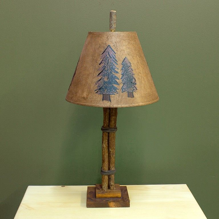 The Twig And Leather Accent Lamp Is Perfect For Your Log Cabin, Rustic  Lodge, Or Country Cottage Bedroom Retreat.