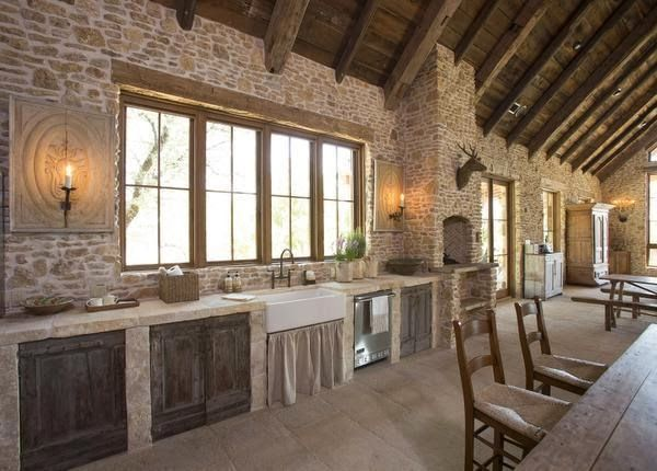 Fern Creek Cottage A Rustic French Barn House In Texas Kitchens Pole Barn Homes