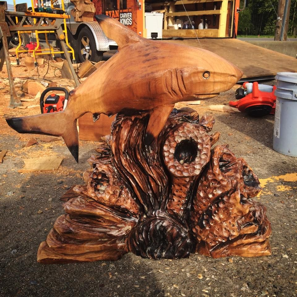 Saw valley ryan cook chainsaw art wood carving