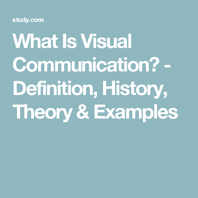 visual communication examples