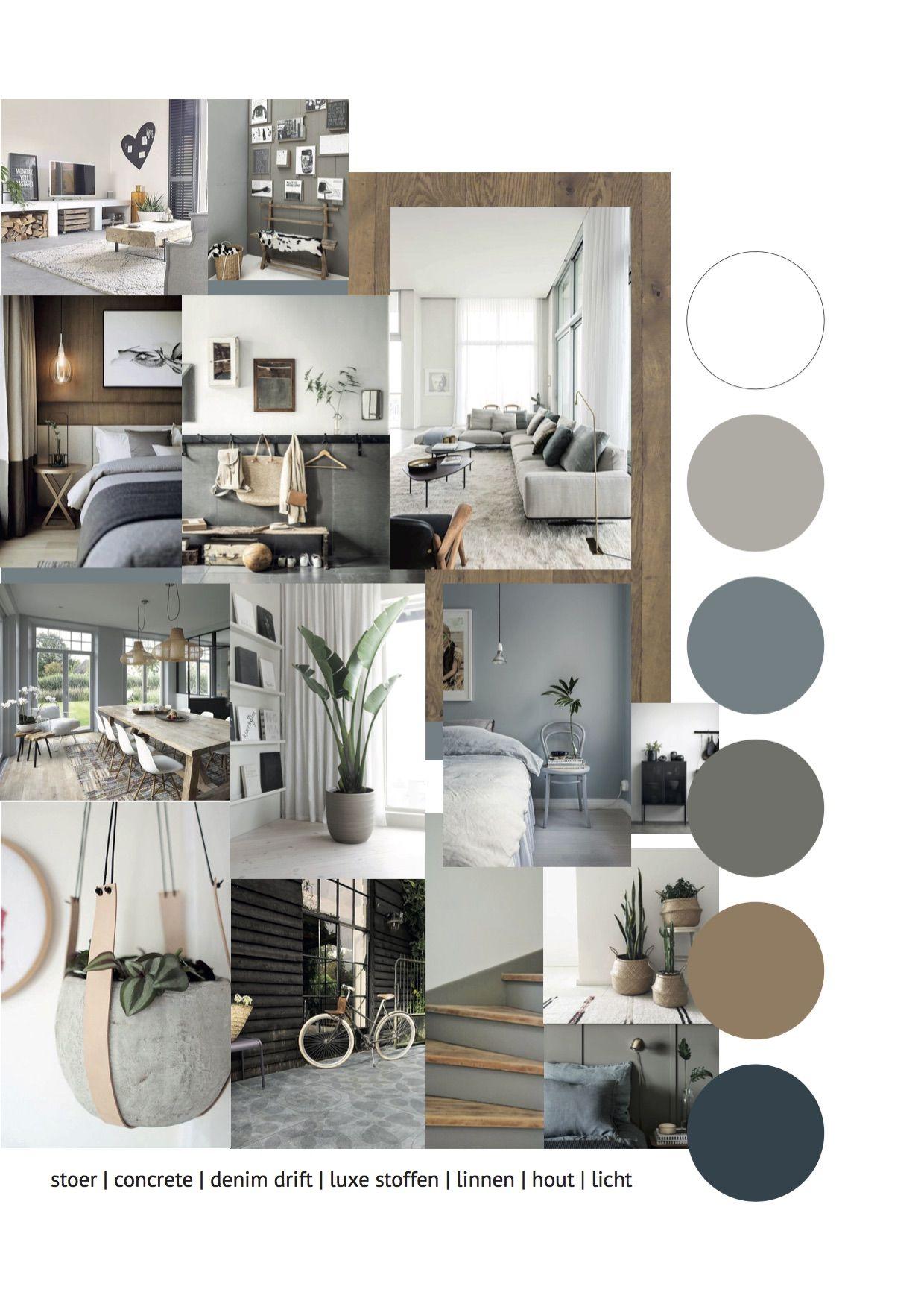 Photo of Interieuradvies Moodboard Interieuradvies voor een warm interieur met blauw (de …