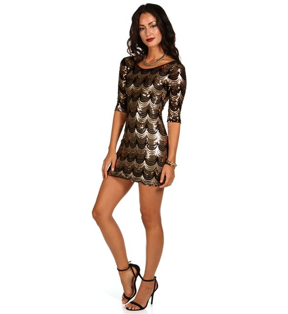 Black And Gold Sequin Dress Pre-order: black and gold scalloped ...