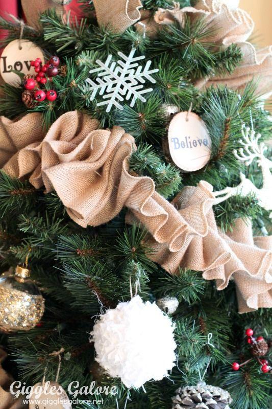 Ruffled Burlap Garland Tutorial Michaels Dream Tree Challenge Christmas Garland Christmas Tree Garland Ribbon On Christmas Tree