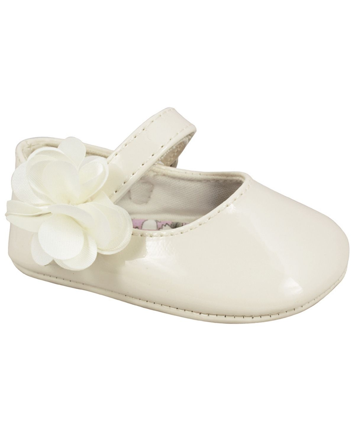 Baby Deer Kids Mary Jane Flat W//Flower