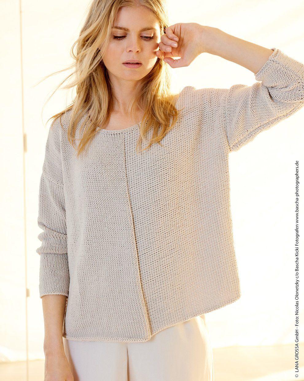 Modelle – Pullover mit glatt rechts und glatt links