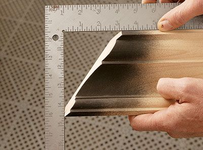 how to cut crown molding inside corner coping
