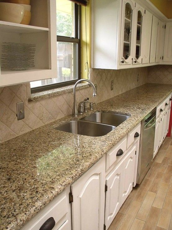 Incroyable Easy Backsplash? Neutral Enough With Venetian Gold Granite Countertops