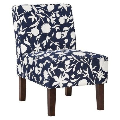 Best Threshold™ Slipper Chair Navy Floral Target Blue 400 x 300