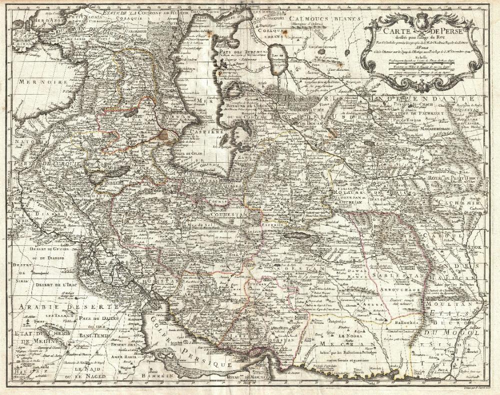 1724 De L Isle Map Of Persia Iran Iraq Afghanistan Iraq Map Map Old Map