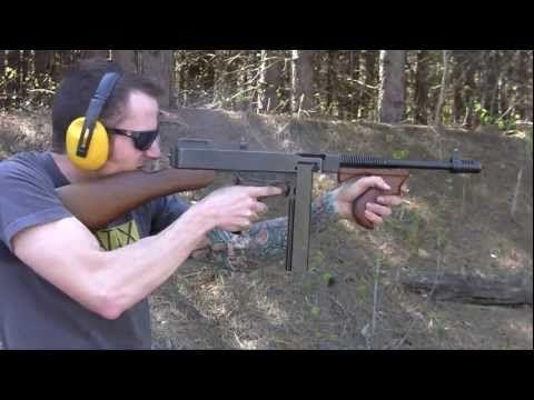 Thompson Sub Machine Guns - video includes cocking.the gun