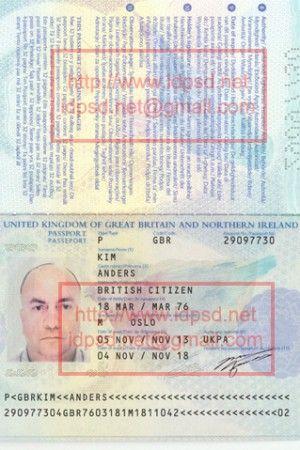 Template United Kingdom Uk Passport Psd Www Idpsd Net Passport