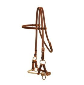 Tory Harness Leather Single Rope Side Pull - Statelinetack.com
