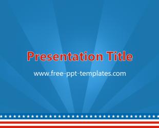 America powerpoint template is a blue template with details from america powerpoint template is a blue template with details from the us flag which you can toneelgroepblik Gallery