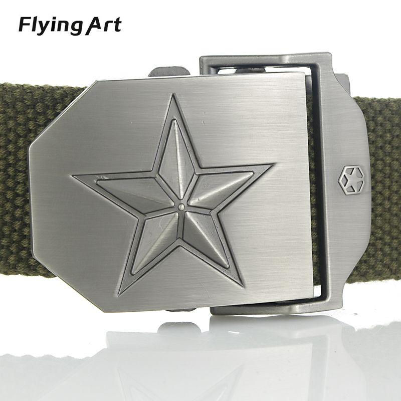 Pentagramme Chaude Hommes Toile Extérieure Ceinture Militaire Équipement  Cinturon Western Bracelet Hommes de Ceintures De Luxe 895ee55b758