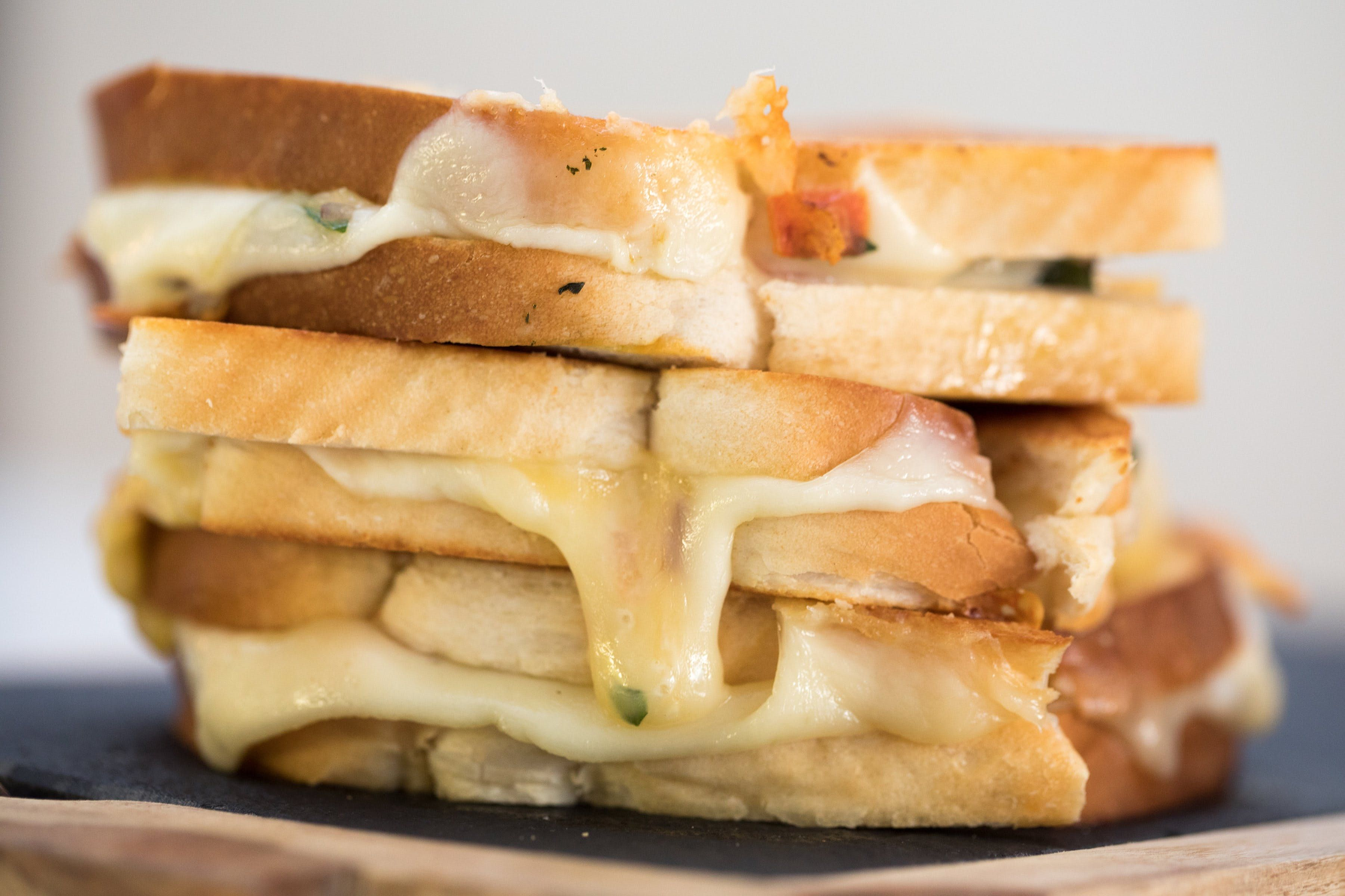 Margherita Pizza Grilled Cheese Recipe Food recipes