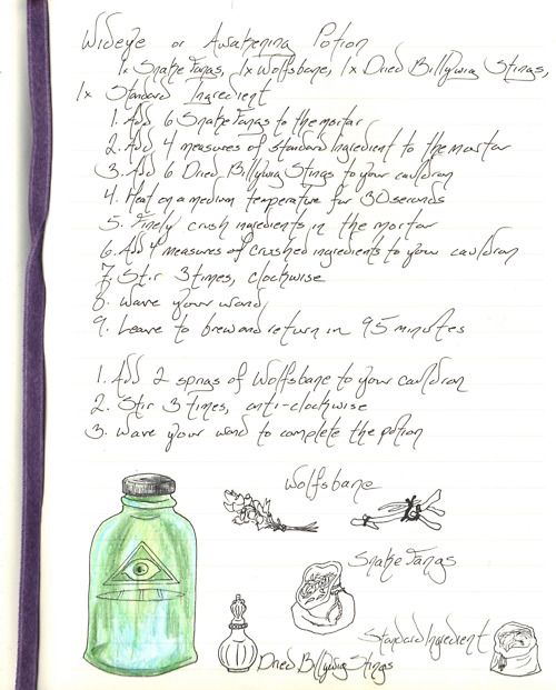 potions recipes - awakening potion | Spells, Charms, Pinch of this ...