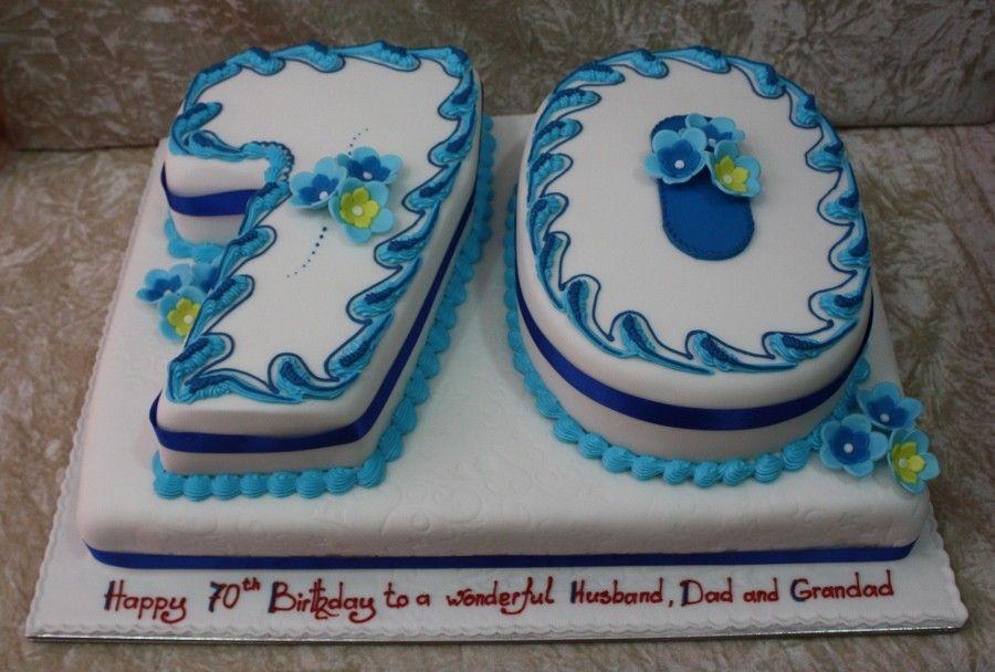 Number 70th Birthday Cake Ideas Weddings Pinterest 70th