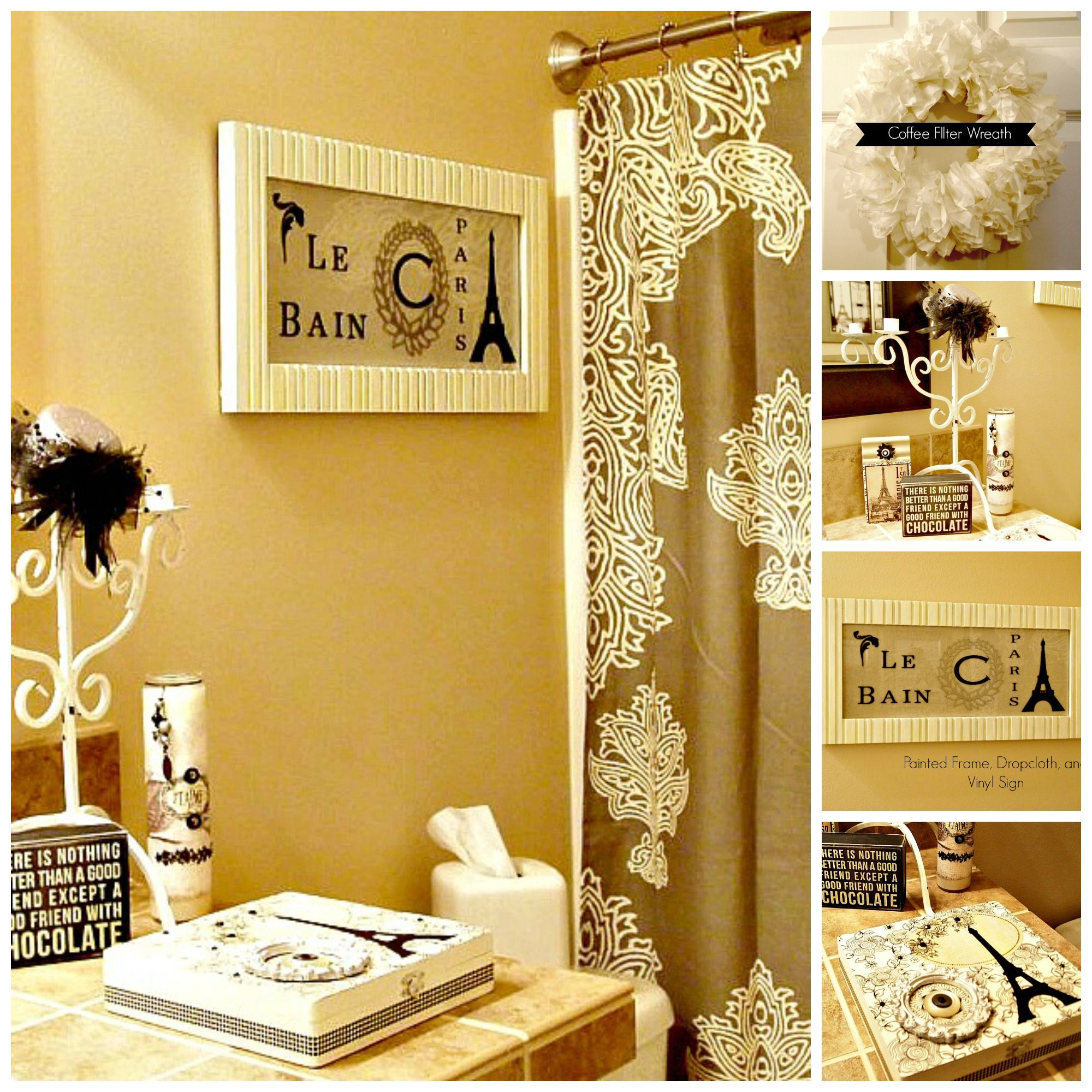 Room Makeover Using What You Have | Easy diy projects, Guest bath ...