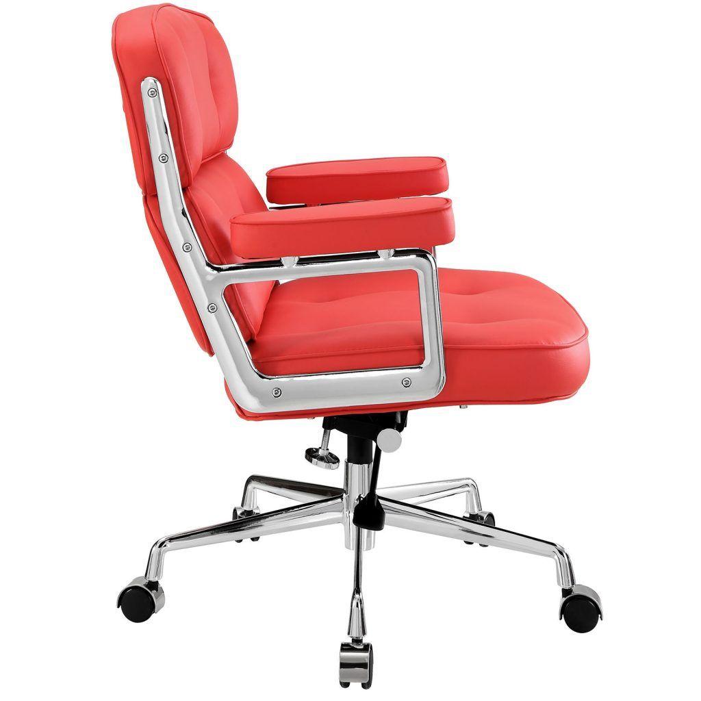 Leder Schreibtischstuhl rote leder schreibtisch stuhl home office möbel bilder überprüfen