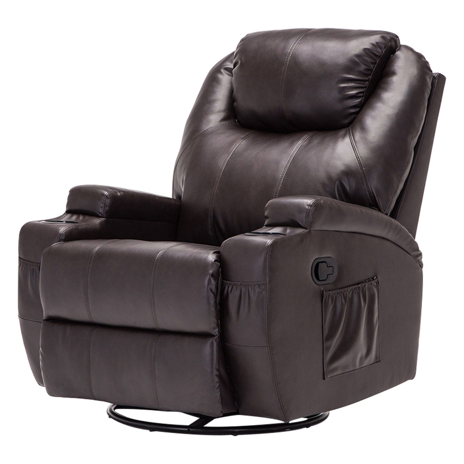Details About Ergonomic Leather Massage Chair Recliner Vibrating Heated Sofa Lounge Brown W Rc Recliner Chair Ergonomic Chair Couch And Loveseat