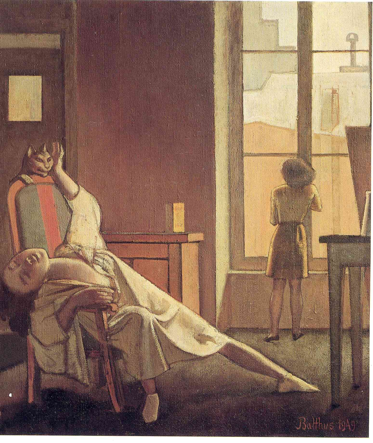 Balthus Balthasar Klossowski de Rola (Artista polaco francés nacido en Suiza, 1908-2001).  The Week with Four Thursdays.