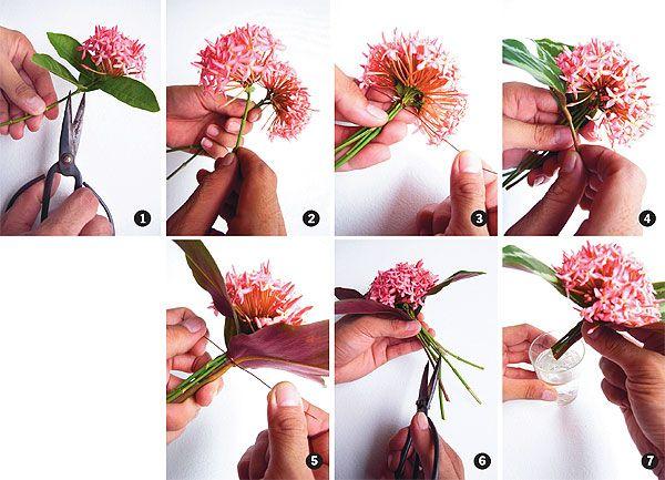 Ixora Bouquet Floral Art Design Floral Art Tropical Wedding Flowers