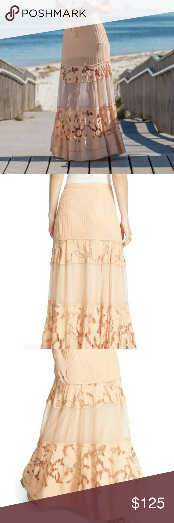 4 Peach Skirt Clothing, Shoes & Accessories Free People Sz