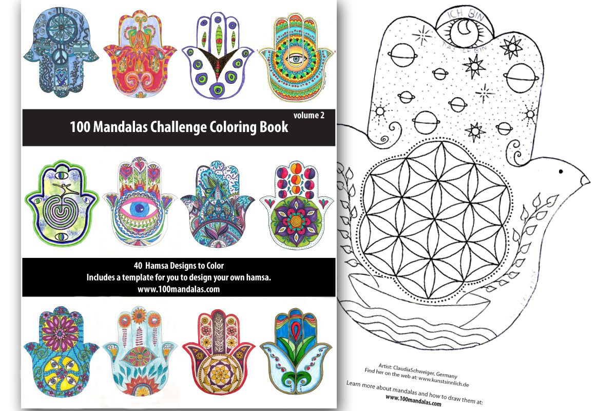 Hamsa Coloring Book Coloring Books Floral Doodle Hamsa