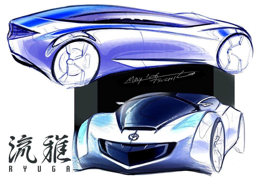 Mazda Ryuga Concept   Design Sketch