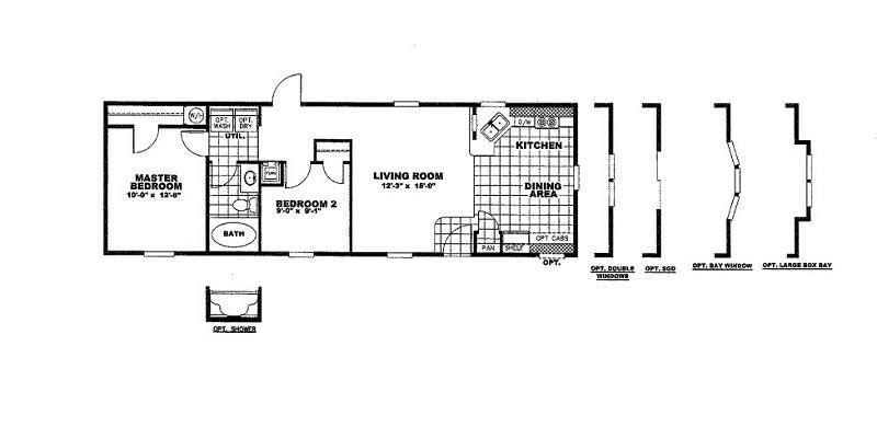 Decision Maker Dmk16482b 2 Bed 1 Bath Mobile Home For Sale Modular Homes Mobile Homes For Sale Mobile Home