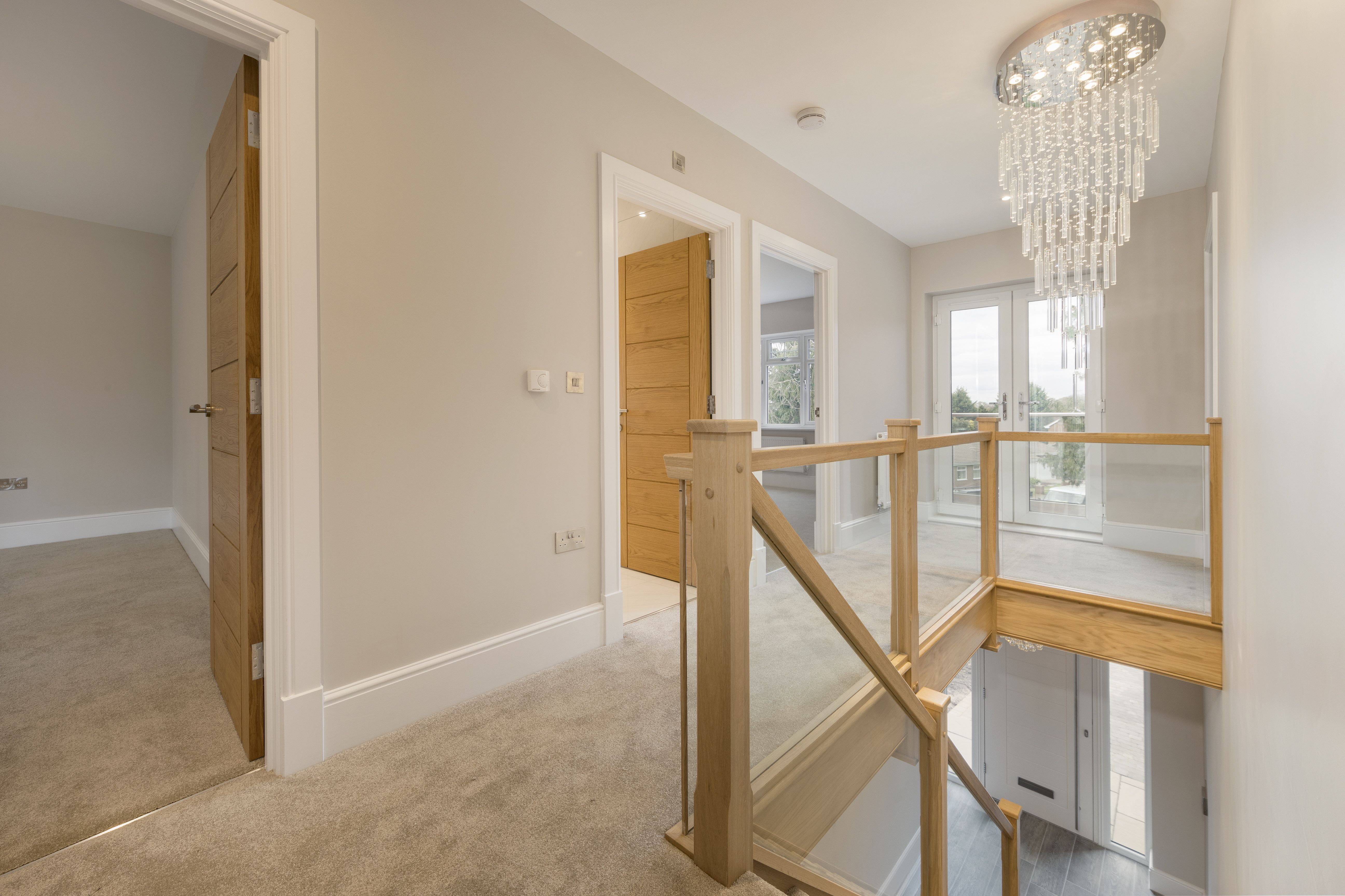 Best Oak Staircase With Glass Balustrade Bespoke Staircases 400 x 300