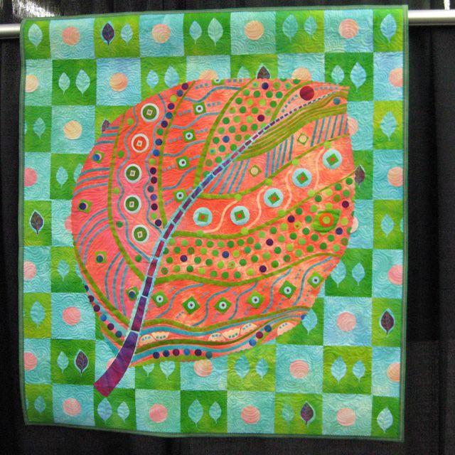 Leaf motif, Laura Wasilowski