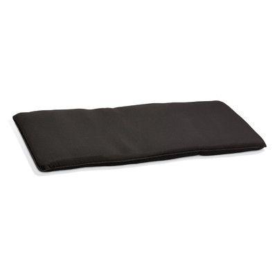 "Oxford Garden Oxford Outdoor Sunbrella Barstool Cushion Fabric: Black, Size: 2.5"" H x 48.5"" W x 18.75"" D"
