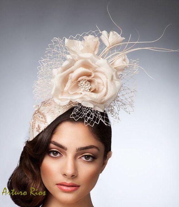36f2204a600e7 Beige Champagne headpiece