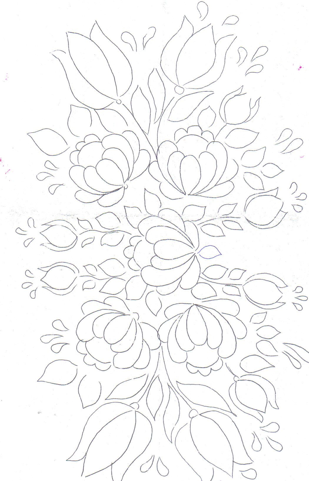 Floral Bunch pattern for painting / embroidery / applique ...