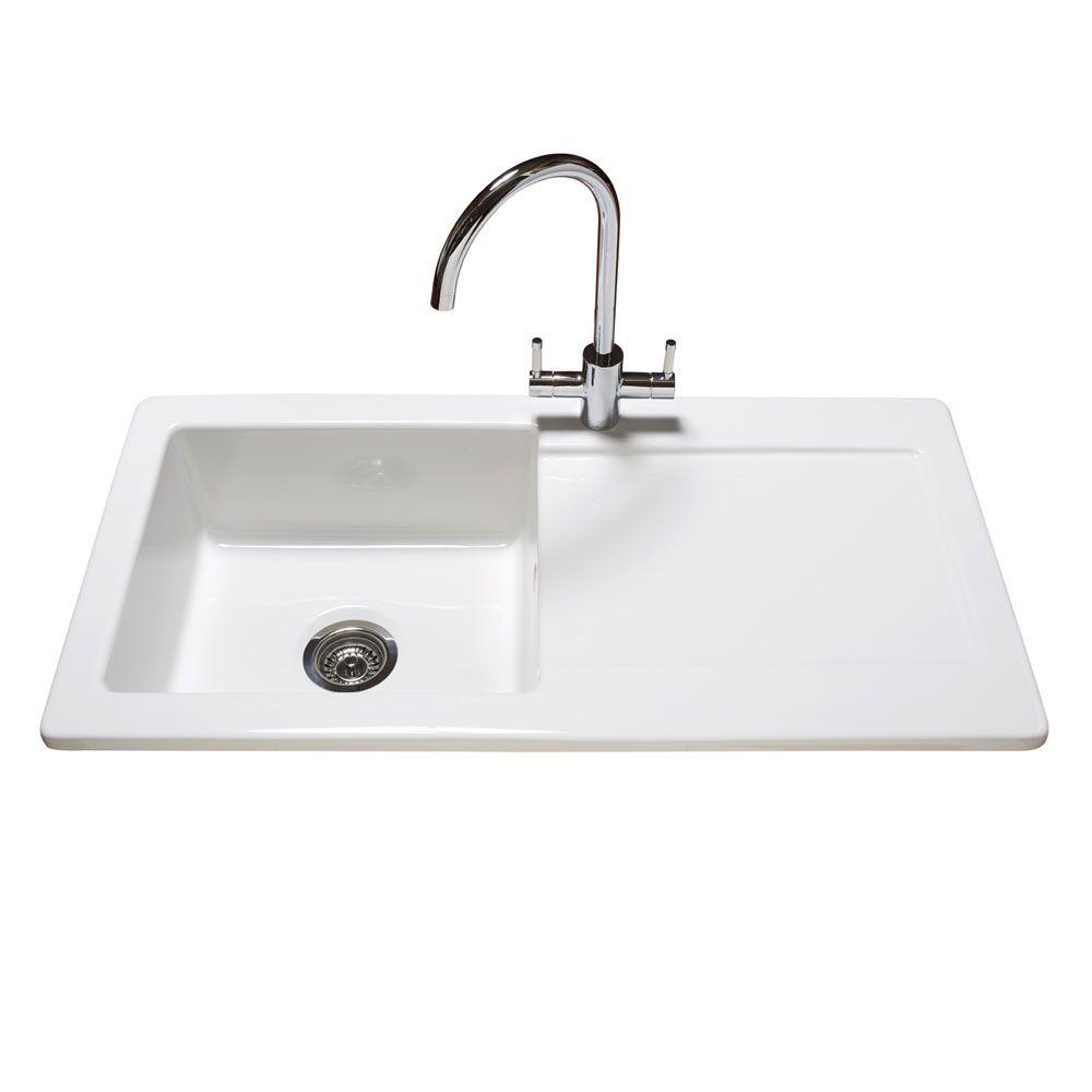 reginox contemporary white ceramic 10 bowl kitchen sink rl504cw tap taps white ceramics and ceramic bowls. Interior Design Ideas. Home Design Ideas