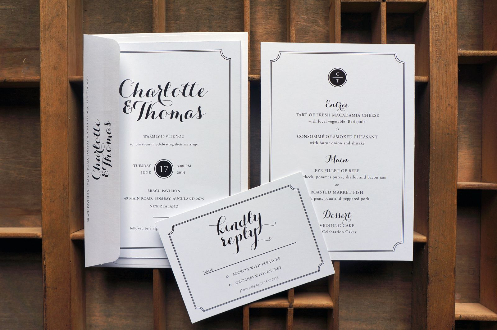 Black and White Wedding Stationery, Old Hollywood Glamour | Little ...