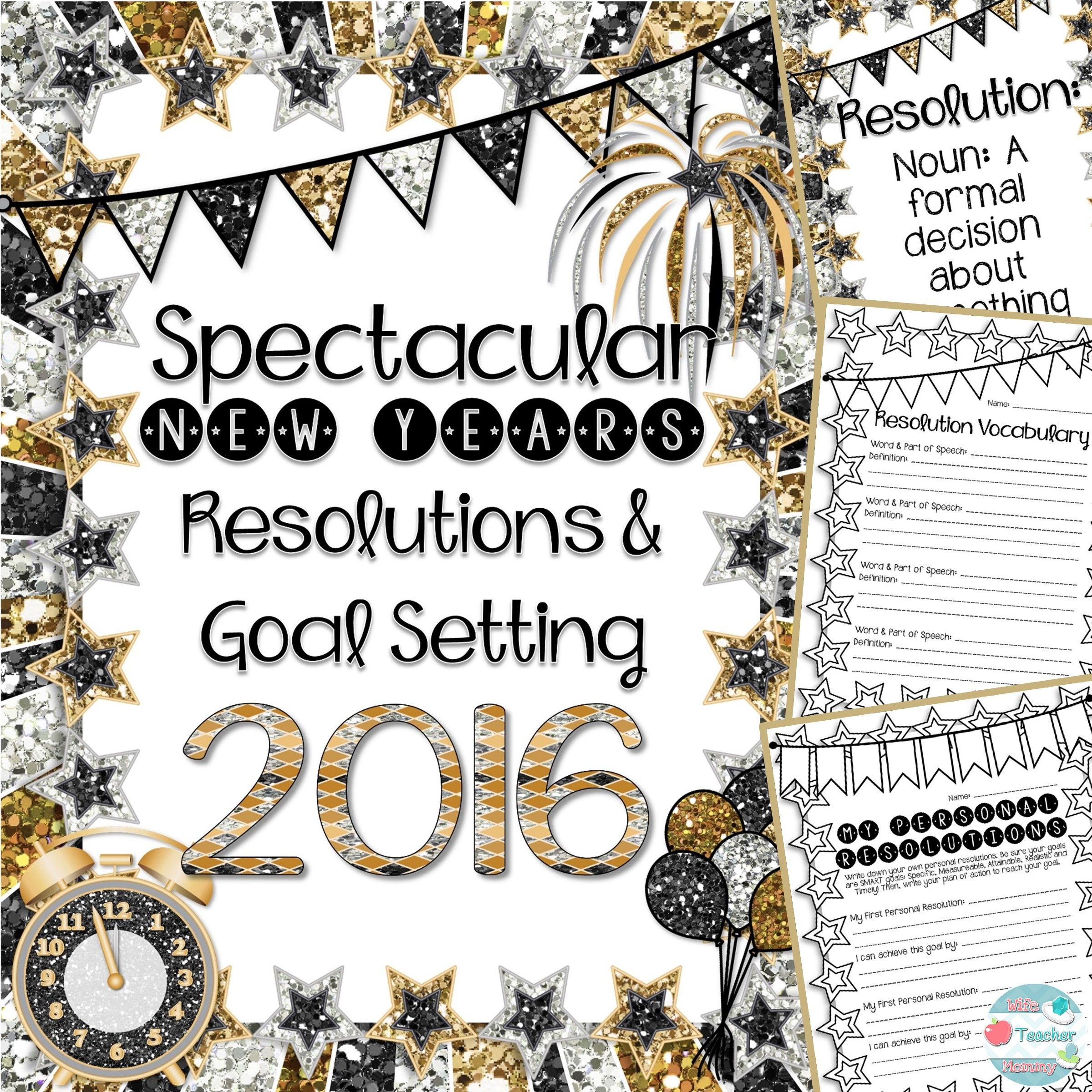 New Year's Resolutions Goal Writing Unit (With images