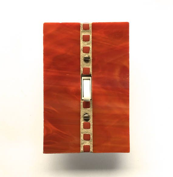 Red Switch Plate Orange Light Switch Cover Decorative Light