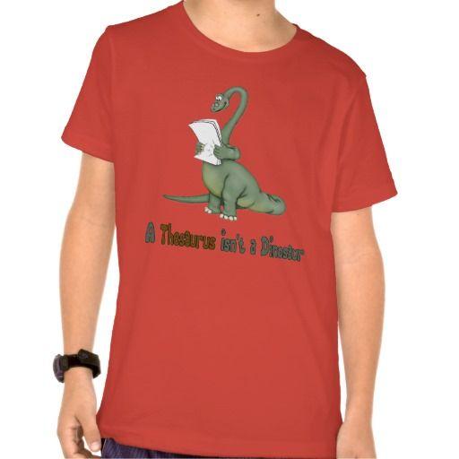 Thesaurus Dinosaur T Shirt