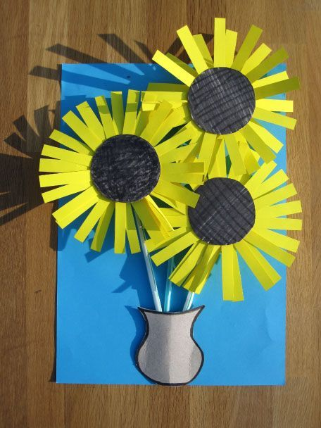 Simple Fork Print Sunflower Craft | Sunflower crafts, Spring art ...