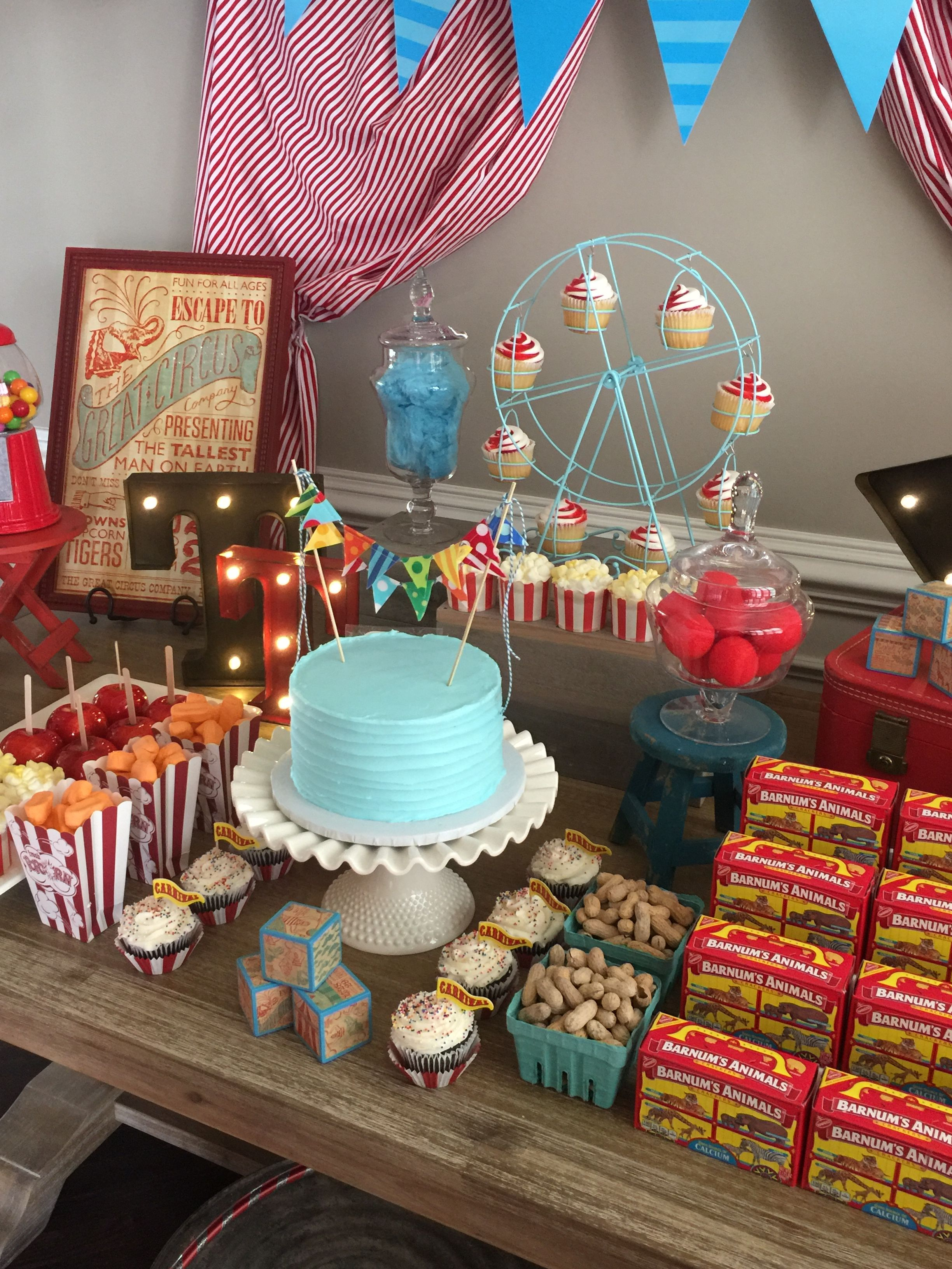 Vintage Circus Theme Baby Shower created by Something Blue ...