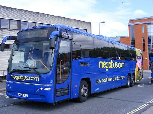 Travel with Megabus fully equipped Bus Service at fare as
