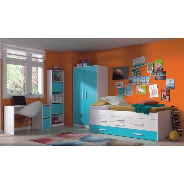 Un dormitorio juvenil decorado con la línea iBlue de muebles > Cama ...